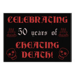 50th Birthday Over The Hill Gag Gift Invitation