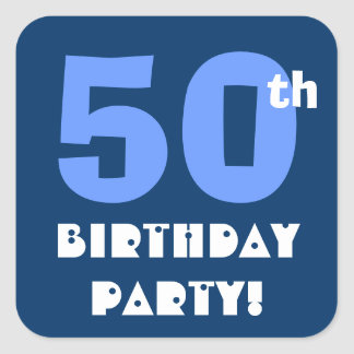 50th Birthday Party Envelope Seal