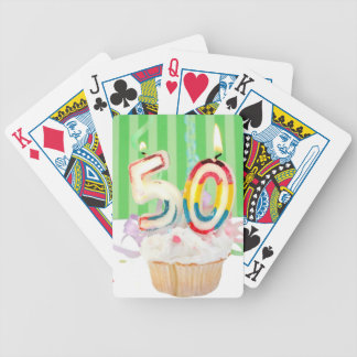 50th birthday party greeting bicycle playing cards