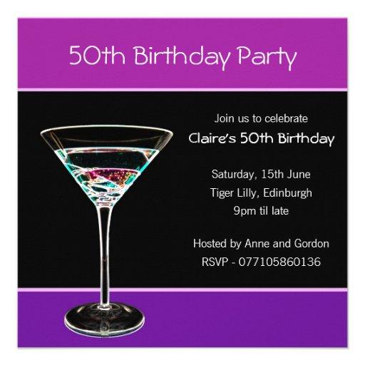 50th Birthday Party Invitation 13 Cm X 13 Cm Square
