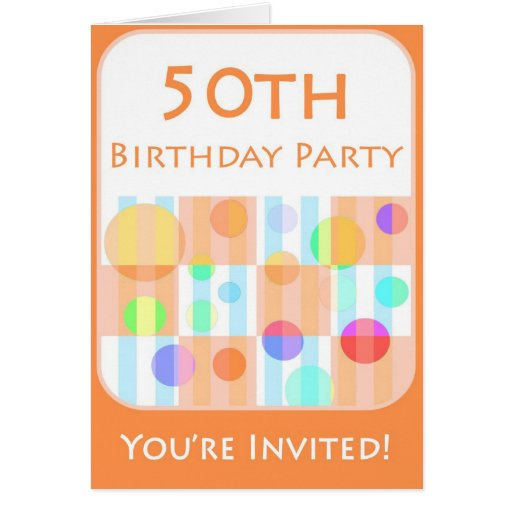 50th Birthday Party Invitation For Him Card