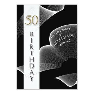 50th Birthday Party Invitation - Modern
