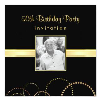 50th Birthday Party Invitation - Photo Optional