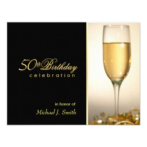 50th Birthday Party Invitations - Corporate Style