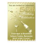 50th Birthday Party Invitations - Gold