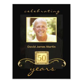50th Birthday Party Invitations - Masculine