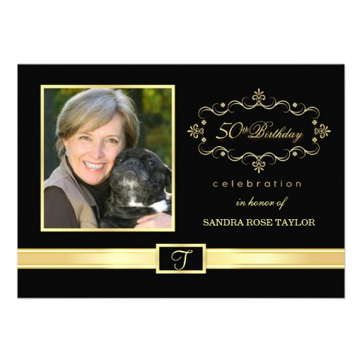 50th Birthday Party Invitations with Photo