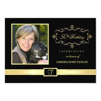 "50th Birthday Party Invitations with Photo 5"" X 7"" Invitation Card"