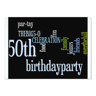 50th Birthday Party Invite