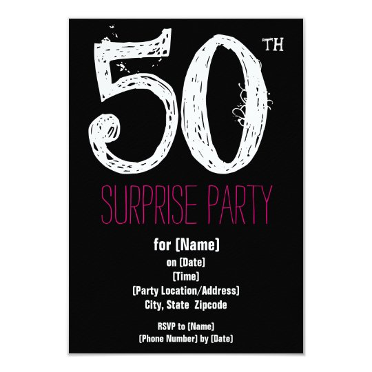 50th Birthday Party Paper Invitations