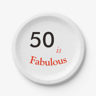 50th Birthday party paper plate