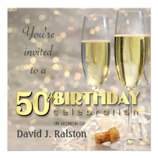50th Birthday Party - Personalized Invitations
