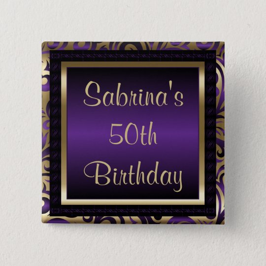 50th Birthday Party | Purple Metallic & Gold
