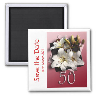 50th birthday party Save the Date Magnet