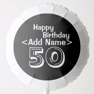 50th Birthday Personalised Balloon
