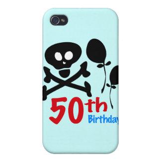 50th Birthday Skull Crossbones Cover For iPhone 4