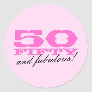 50th Birthday stickers | 50 and fabulous