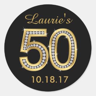 50th Birthday Stickers | Diamond