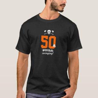 50th Birthday - Still Swinging - Golf Skull T-Shirt