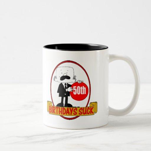 50th Birthday Sucks Gifts Mugs