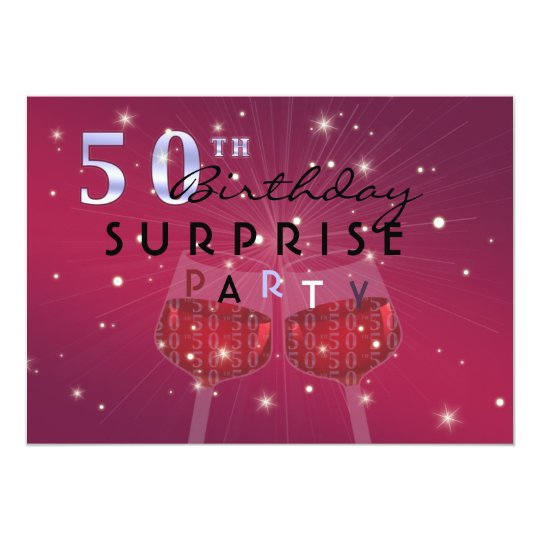 50th birthday surprise party invitation