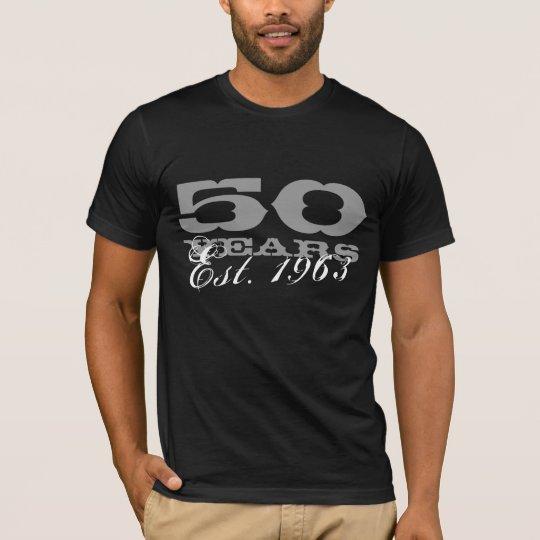 50th Birthday tee shirt for men   Est.