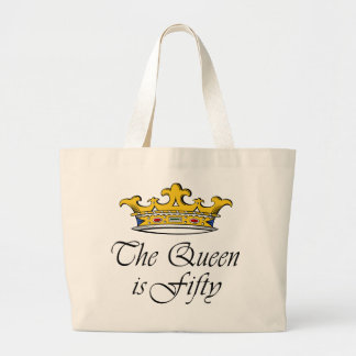 50th birthday The Queen is 50 Canvas Bags