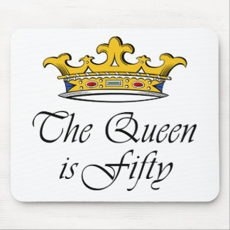 50th birthday The Queen is 50! Mouse Mat