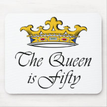 50th birthday The Queen is 50! Mousemat