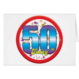 50th Birthday Today v2 Card