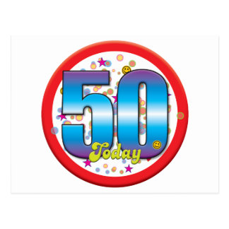 50th Birthday Today v2 Postcard