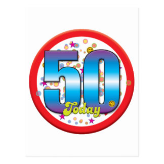 50th Birthday Today v2 Postcards