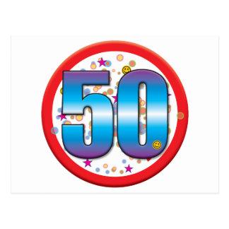 50th Birthday v2 Postcards