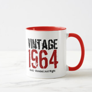 50th Birthday Vintage 1964 or Any Year V01 Mug