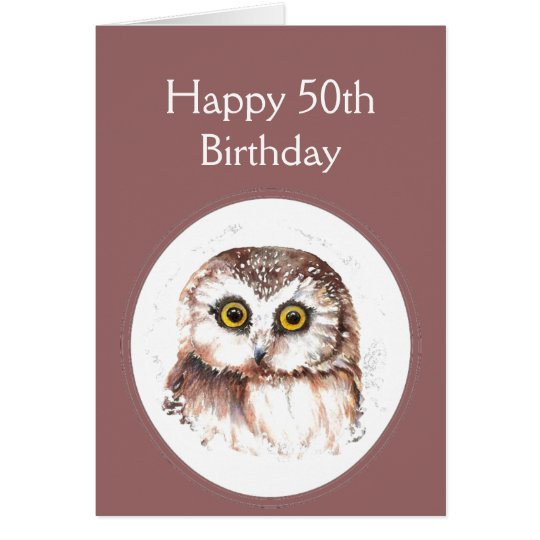 50th Birthday Who Loves You, Cute Owl Humour