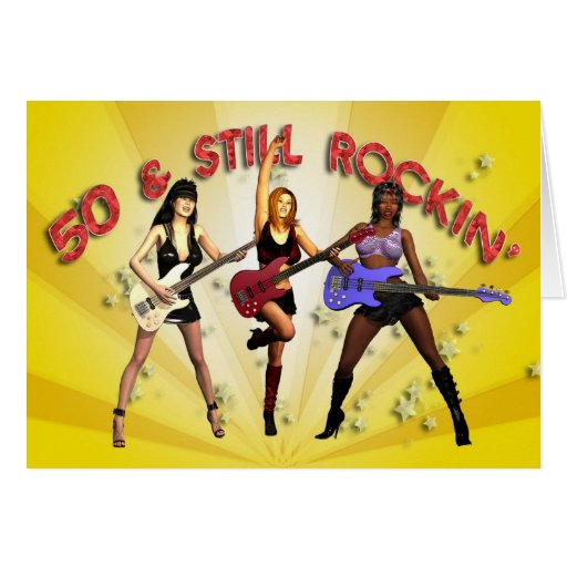 50th birthday with a girl band cards