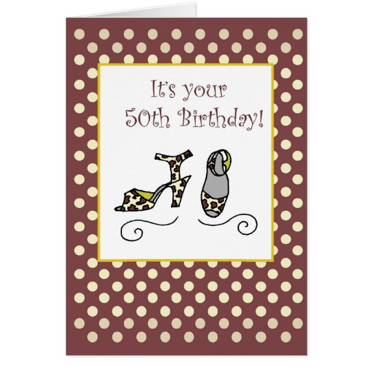 50th Birthday Women's Shoes Card