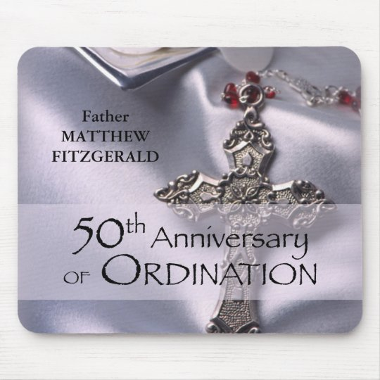 50th Custom Name Ordination Anniversary Chalice Mouse Mat