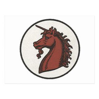 50th Division Unicorn Post Card