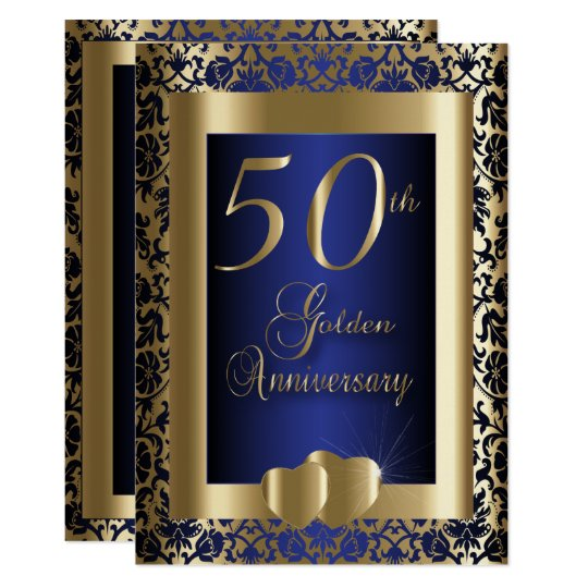 50th Gold and Blue Wedding Anniversary | DIY
