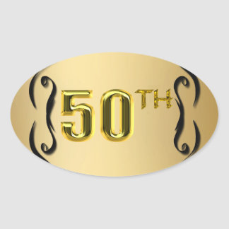 50th Gold Seals And Stickers