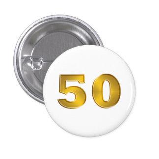 50th Golden Anniversary Buttons