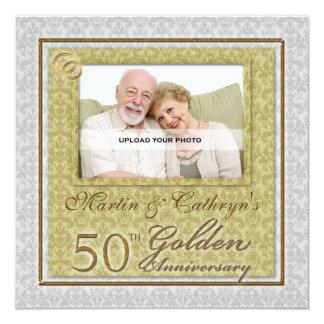 50th Golden Anniversary Custom Photo Invitation