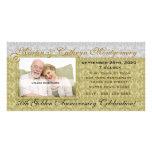 50th Golden Anniversary Invitation Photo Card