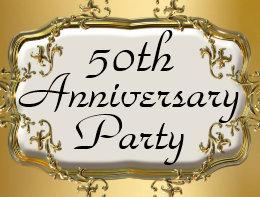 50th anniversary invitation postcards zazzle uk 50th golden anniversary party invitation postcards stopboris Gallery