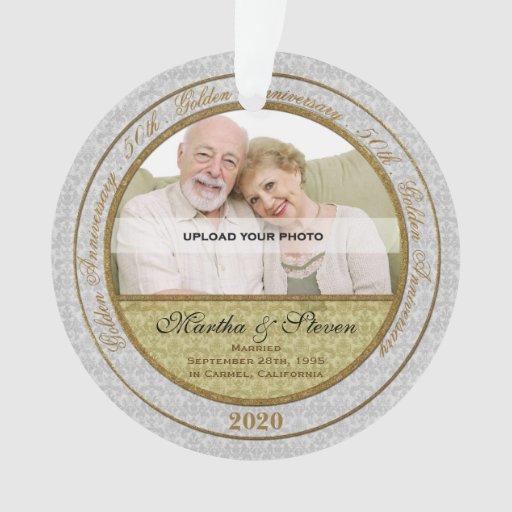 Th golden anniversary photo ornament zazzle