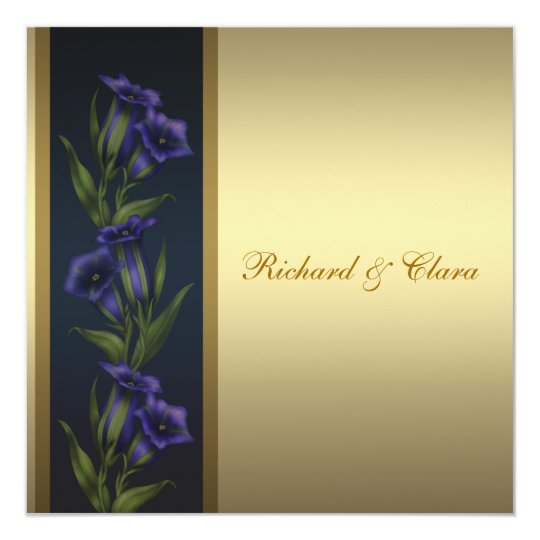 50th Golden Anniversary Purple Gentian Violets Card