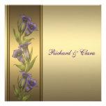 50th Golden Anniversary Purple Violets Personalized Announcement