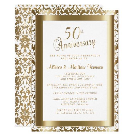 Wedding Anniversary Program Ideas: 50th Golden Wedding Anniversary 2