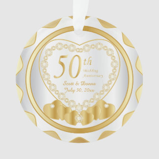 50th Golden Wedding Anniversary 2 Ornament